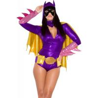 Buy cheap Hero Costumes Wholesale Polyester Purple Pink Yellow Bat Chick Superhero Costume with size S to XXL from wholesalers
