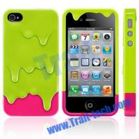 Buy cheap Melt Ice Cream Detachable Hard Case for iPhone 4S/iPhone 4 (Light Green+Rose) from wholesalers