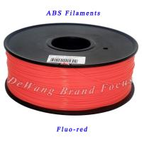 Buy cheap FluoRed 3D Printer Filaments ABS Consumables 1.75mm Plastic Rubber Material from wholesalers