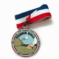 Buy cheap Sports Zinc alloy material custom Medals with lacquered colors, for Sports meeting from wholesalers