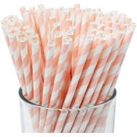 Buy cheap 7.75  Christmas Holiday Gift Paper Party Straws from wholesalers