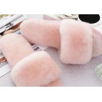 Buy cheap Open Toe Soft Sole Sheep Wool Slippers Durable With Fur Lining / 34-43 Euro Sizes from wholesalers