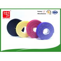 Buy cheap Plastic hook 2 sided hook and loop tape / back to back Strapping  Hook and Loop Cable Tie from wholesalers