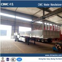 Buy cheap 40 ft flatbed semi-trailer with 3 axles dropside 50 tons from wholesalers