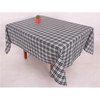 Buy cheap Quick Delivery Decorative Table Cloths , Poly Viscose Fabric Black Checkered Tablecloth from wholesalers