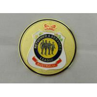 Buy cheap Iron / Brass / Copper Returned & Service Personalized Coins with Soft Enamel, Gold Plating for Commemorative product