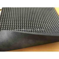 Buy cheap Black Neoprene Rubber Sheet Roll With Continuous Diamond Field Design from wholesalers