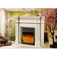 Buy cheap Decorative White Freestanding Modern Electrc Fireplace support Oak / Poly Resin Material from wholesalers