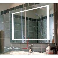 Buy cheap LED Illuminated Bedroom Mirrors , Custom Size Bathroom Mirror With Lights from wholesalers