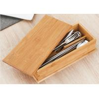 Buy cheap 0.8cm Thickness Natural Bamboo Box , Bamboo Recipe Box For Soup Ladle Fork Packaging product