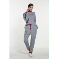 Buy cheap Polyester Spandex Grey Long Sleeve Pajama Set from wholesalers
