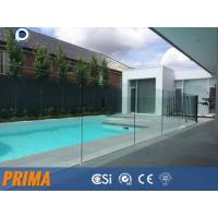 Buy cheap Top grade clear frameless laminated glass balustrades for pool from wholesalers