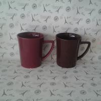Buy cheap single color glaze trumpet wholesale advertising mug from wholesalers