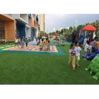 Buy cheap Lush Artificial Grass Fixed On Surface , With Elastic Cushions Children Play Mat product