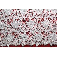 Buy cheap New dyeable lace fabric flower design black crochet cotton lace new design water soluble african fabrics from wholesalers