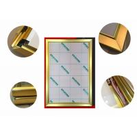 Buy cheap Jewelry Display Advertising Light Box Picture Frame, Gold Color Led Poster Light Box from wholesalers
