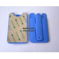 Buy cheap Wholesale Blue color silicone smart phone pouch with phone stand from wholesalers
