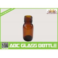 Quality 30ml Amber Glass Bottle For Syrup With Din28 Neck for sale