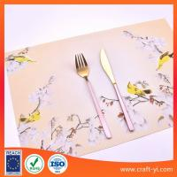 Buy cheap 30X45cm Woven PVC Textilene Placemats Dining Kitchen Table Mats from wholesalers