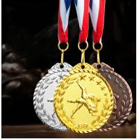 Buy cheap Factory Wholesale metal zinc alloy gold silver copper custom taekwondo medal with ribbon fast delivery from wholesalers