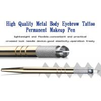 Buy cheap Eyebrow Embroidery Handmade Cosmetic Tools Permanent Makeup Tools Gold Manual Tattoo Pen from wholesalers