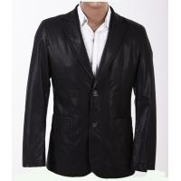 Buy cheap Custom Size 52, Size 48, Black, Fashionable and Handsome Mens PU Leather Blazers product