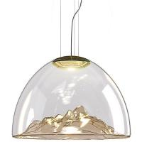 Buy cheap Mountain Blown Hanging Bar Lights , Warm White GU10 Glass Decorative Pendant Lights from wholesalers