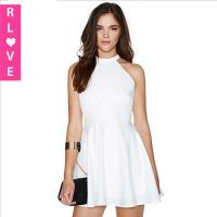 Buy cheap 2016 summer new European Slim Sexy lace halter strapless A-line dress , white dresses sale from wholesalers