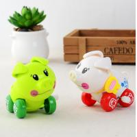 Buy cheap 5cm high Cheap Christmas toy for children white green wind up pig from wholesalers
