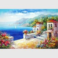 Buy cheap Hand - painted Impressionism Mediterranean Oil Painting Vacation Harbor from wholesalers