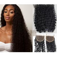 Buy cheap 100% Blond And Black Ombre Hair Peruvian Virgin Hair / natural wave peruvian hair from wholesalers