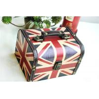 Buy cheap UK Flag Retro Wooden Pirate Jewellery Storage Box Case Holder Vintage Treasure Chest Storage Boxes from wholesalers