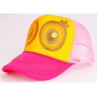 Buy cheap Cute Mesh Snapback Trucker Hat Colorful Cotton Mesh Adjustable 56 - 60cm from wholesalers