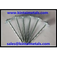 Buy cheap 9 gauge x 2.5 galvanized umbrella head roofing nails from wholesalers