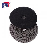 Buy cheap 4 Inch / 5 Inch Wet Diamond Polishing Pads , Spiral Velcro Polishing Pads from wholesalers