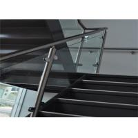 Buy cheap Indoor 304 Stainless Steel Glass Railing With Satin Or Mirror Post Finishes from wholesalers