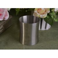 Buy cheap 23 Oz Silver round metal candle holder bulk with Lid , customized shapes from wholesalers