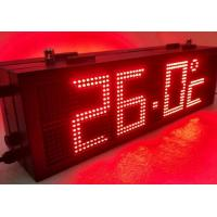 Buy cheap RS485 LED Gas Station Sign with Static State Display Dot Front Side Maintenance from wholesalers