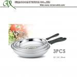 Buy cheap Hot sales Stainless steel frying pan Set 22cm, 24cm, 26cm Bakelite handle from wholesalers