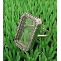 Buy cheap New Fashion 316L Stainless Steel Floating Charm Memory Living Locket Ring TGLR003,Magnetic from wholesalers