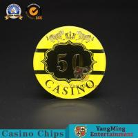 Buy cheap Macao Competition Casino Poker Chips Hot Stamping Anti - Counterfeit from wholesalers