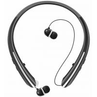 Buy cheap Bluetooth Retractable Headphones, Wireless Earbuds Neckband Headset Sports Noise Cancelling Stereo Earphones with Mic from wholesalers