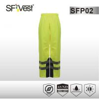 Buy cheap AS / NZS 1906 reflective safety pants , 300D oxfords polyester high visibility trousers with 2 slanted pockets from wholesalers
