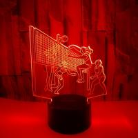Buy cheap 3D creative small table lamp Play volleyball 3D stereo lamp LED decoration personalized custom gift table lamp 3D night from wholesalers