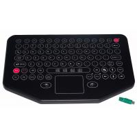 Buy cheap Water proof movable desktop industrial membrane keyboard with sealed touchpad from wholesalers