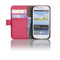 Buy cheap PU Soft Cover for Samsung Galaxy Leather Case for i8190 S3 mini Pink from wholesalers