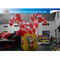 Quality Giant Colorful Inflatable Christmas Stick / Inflatable Candy Cane Stick / Inflatable Walking Stick for sale