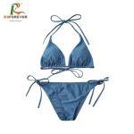 Buy cheap Blue Beach Wear For Women / Quick Dry Polyester Fabric Swimwear Sexy Bikini from wholesalers