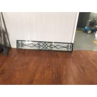 Buy cheap 08*48 Wrought Iron And Glass Entry Doors Sandblasting Zinc Coating from wholesalers