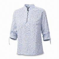 Buy cheap Women's Shirt, 84% Cotton/16% Polyester, Garment Enzyme Washed from wholesalers